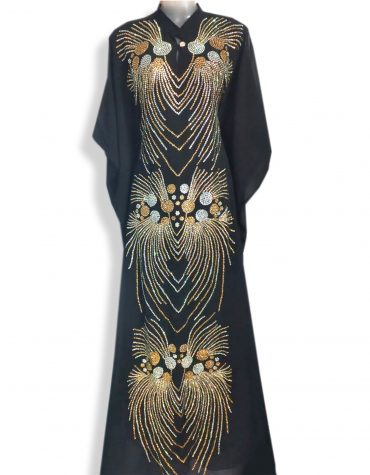 Premium Designer Evening Party Crystal Beaded Gown Abaya Moroccan Dubai kaftan