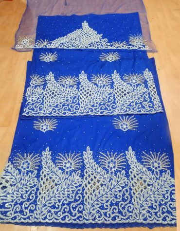 African George Dresses for Women 3 Piece silk Wedding fabric Indian George wrapper