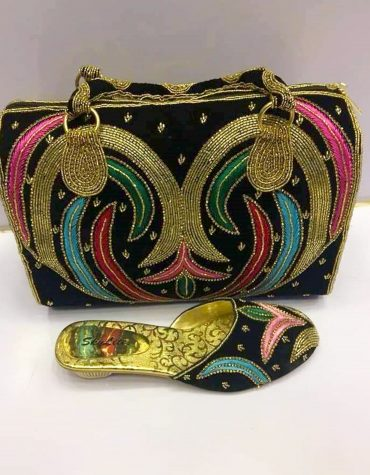 African Women Beaded Bags Handmade heavy Crystal Pearl Bags for Wedding party