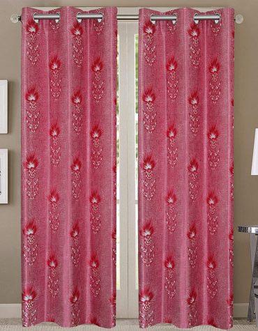 Secret Linen Curtain, Long Door 9 feet- Pack of 2, Lava Red