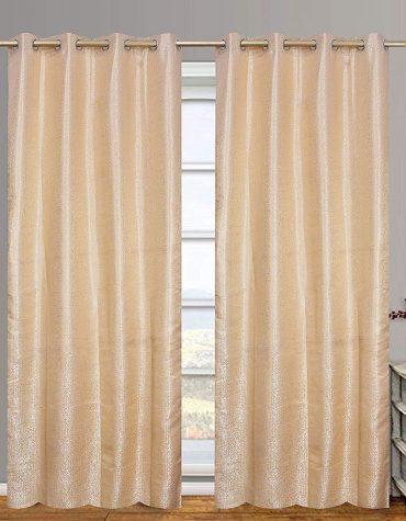 Polyester Blend 9 ft Long Door Curtain 1 Piece (Cream)