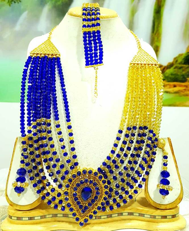 New African Elegant Fancy Lovable Wedding Necklace Set For Women