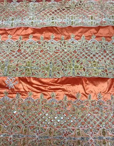 Nigerian Heavy Crystal Work Designer George Fabric Nigerian Wedding George Fabric