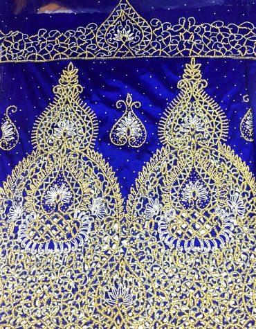 African George Fabric Net Blouse Nigerian Wedding Fabrics Crystalwork George
