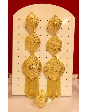 2 Gram gold zali wayer earring set