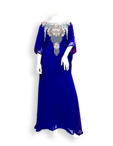 Crystal Beaded Beach Cover Up Long Chiffon Party Wear Womens Dubai Kaftan