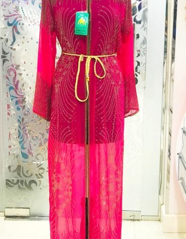 Beach Long Sleeve Moroccan Wedding Fuchsia Formal Dubai Dresses for Women