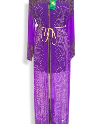 Long Sleeve Moroccan Wedding Purple Formal Dubai Dresses for Women
