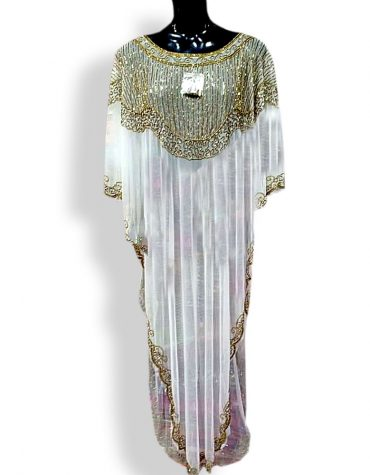African Boutique Dashiki Bazin for Women Party Wear White Dubai dress