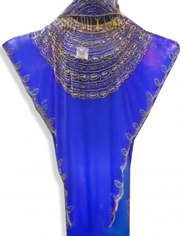 African Ready made Blue Shrug New Dresses for Women Dubai Party Wear with Head wrap 2020