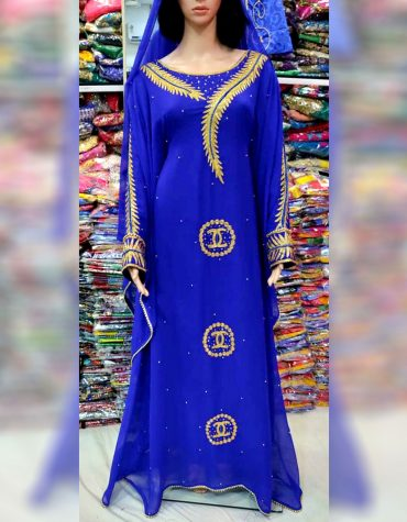 African Attire Moroccan Beaded Farasa Dresses Abaya for Women Dubai Kaftan