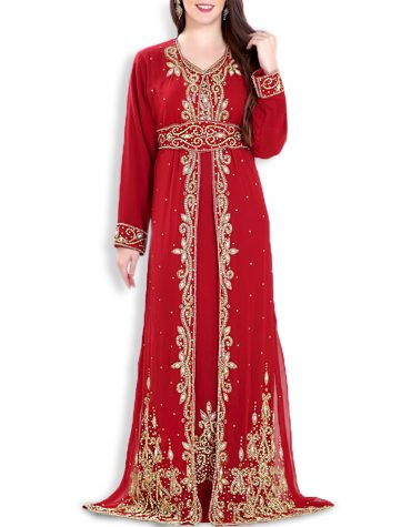 African Attire Wedding Abaya Long Maxi Moroccan Beaded Dubai Kaftan for Women