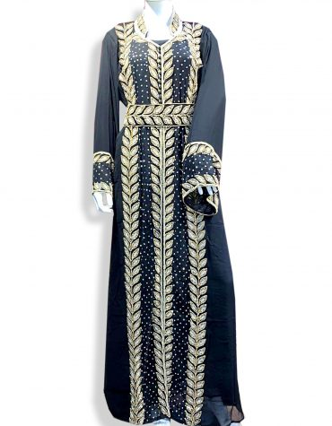 African Abaya Long Maxi Formal Crystal Beaded Dubai Kaftan for Women