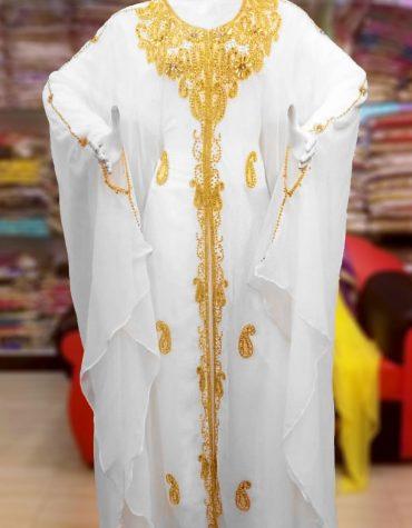 African Attire Bridesmaid Abaya Long Moroccan Beaded Formal Dubai Kaftan for Women