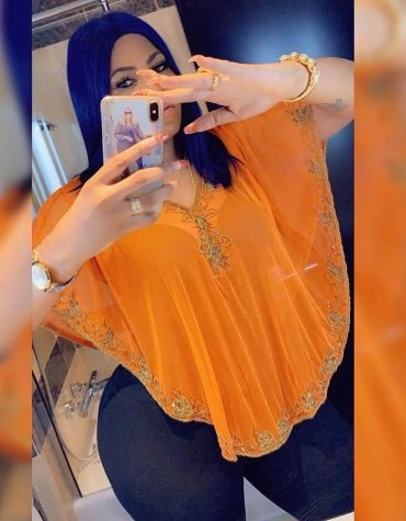 Evening Orange Poncho Shrug top Embroidery Designs Beaded work Tulle Fabric Women