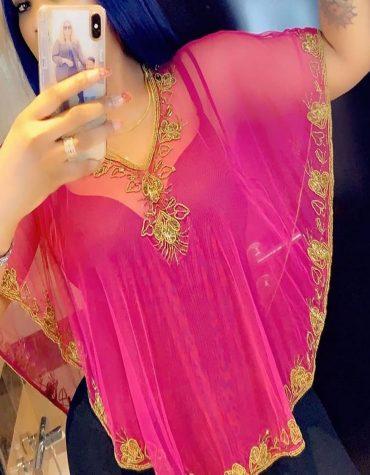 Beach Cover Up Long Chiffon Party Wear Beaded Womens Dubai Kimono Kaftan