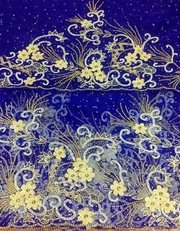 Net Lace 3D Floral Designer George Fabric