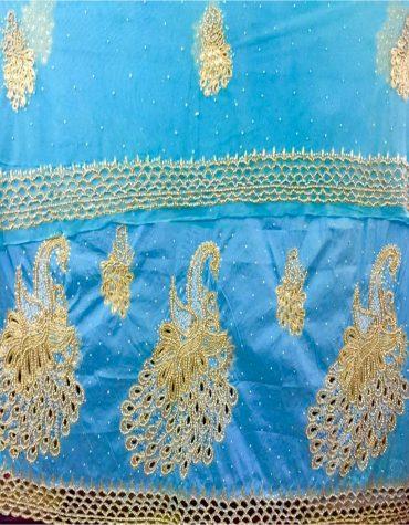 Peacock Design African Wedding George Fabric for bride nigerian wedding wrapper