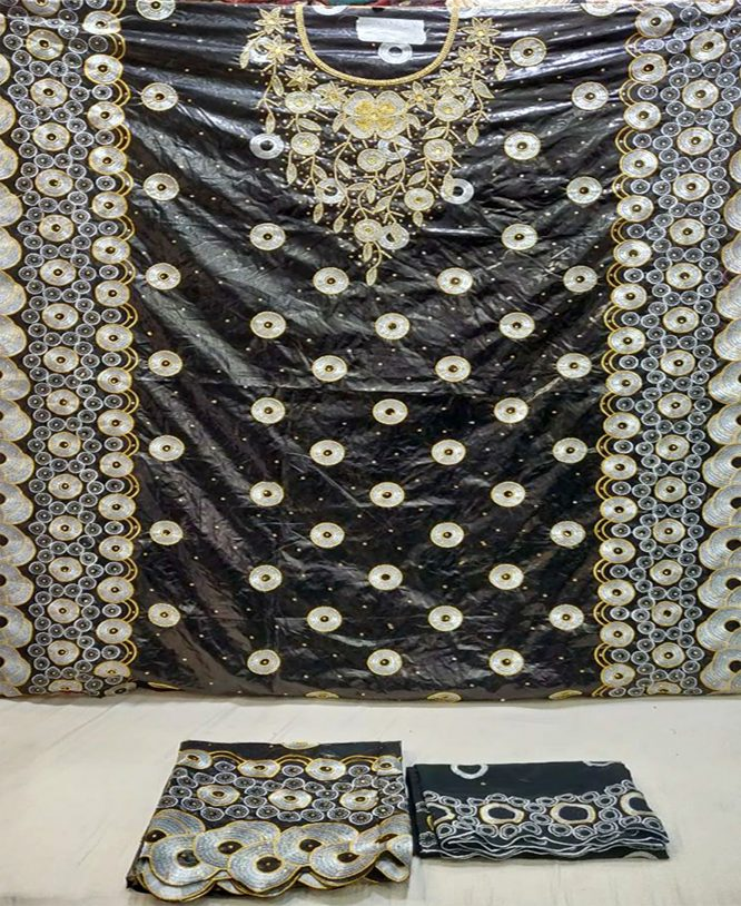 Double Color Embroidery Work With Matching Stone Fully Fantastic