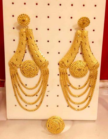 New Best Designer Golden Plated Earring Set