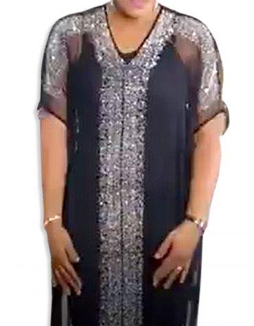 African Womens Golden Bridemaids Diamond Sparkling Stone Evening Abaya Tulle Dubai kaftan