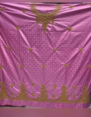 African Attire Evening Embroidery Beaded Moroccan Formal Satin Dress Material