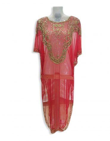 African Women's Abaya Crystal Stone Beaded Dubai Dress Chiffon Kaftan