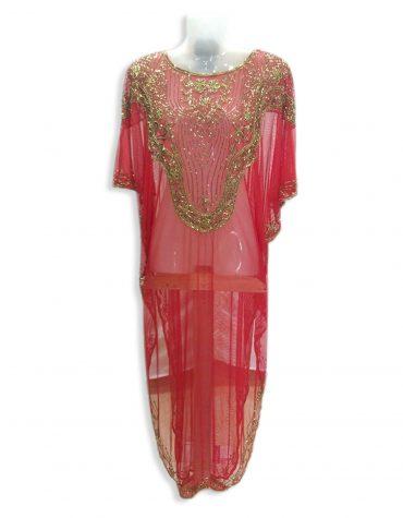 African Attire Formal Maxi Gown Gold Beaded Fancy Dubai Kaftan for Women