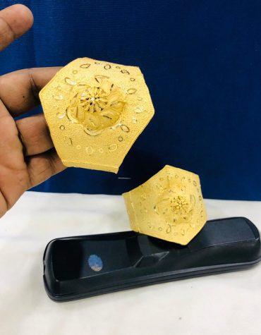 African Designer for Woman Style 2 Gram Gold Bangle Dubai 2 Set