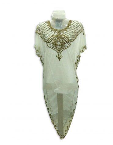African Kaftan Ivory Wedding Guest Formal Dubai dresses for women