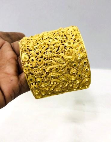 African Designer New Stylish 2 Gram Golden Plated Bangle Set