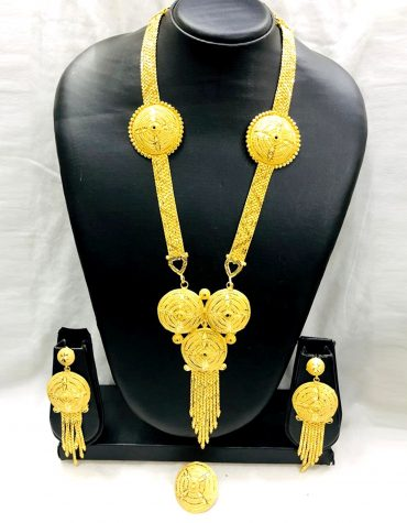 African New Designer Party Collection Gold Necklace Set for Women