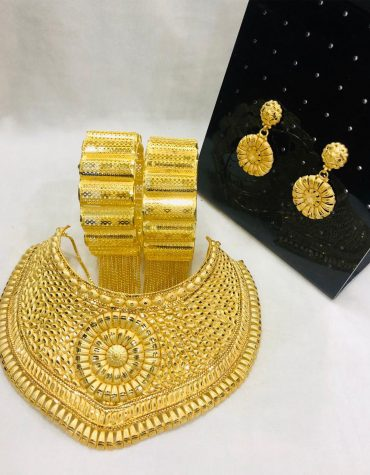 African New Designer Party Gold Necklace Set for Women