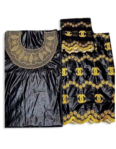 African Rani Riche Dubai New Designer Bazin Embroidery With hand Stone Work