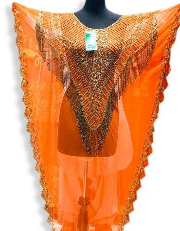 African Long Chiffon Party Wear Beaded Womens Dubai Kimono Kaftan