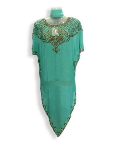 African Formal Maxi Gown Gold Beaded Fancy Kaftan Dresses for Dubai Women
