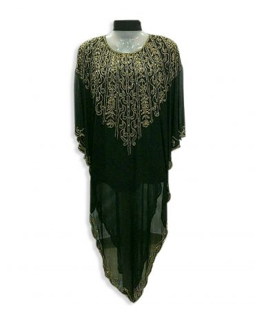 Women's Abaya Crystal Stone Beaded Dubai Dress Chiffon Kaftan