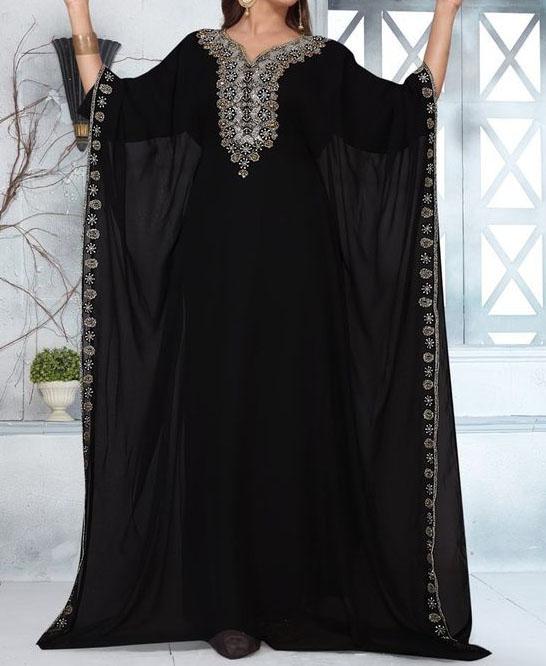 African Attire Long Pharsa Kaftan Dubai Morrocan Beaded Dresses For Women