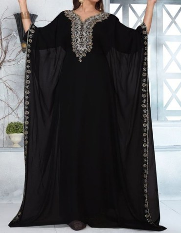 African Attire Long Pharsa Kaftan Dubai Morrocan Beaded Dresses For Women