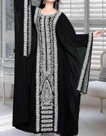 African Attire Long Sleeve chiffon Dubai Morrocan Beaded Dresses For Women