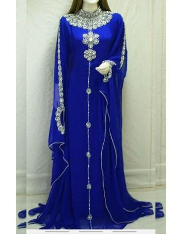 African Attire Long Sleeve Kaftan Dubai Morrocan Beaded Dresses For Women