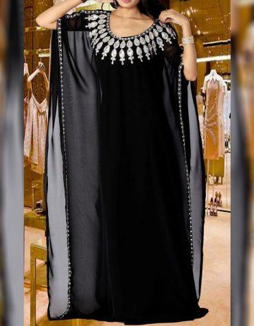 African Attire Dubai Abaya Dresses Morrocan Beaded Formal Dresses For Women