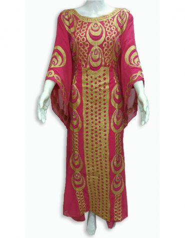 African Style Elegant Embroidery with Stone Dresses Kaftan For Women