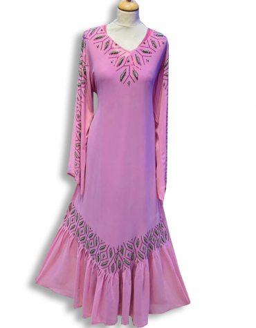 Elegant Maxi Evening Moroccan Formal Abaya Dubai Beaded African Dresses for Women