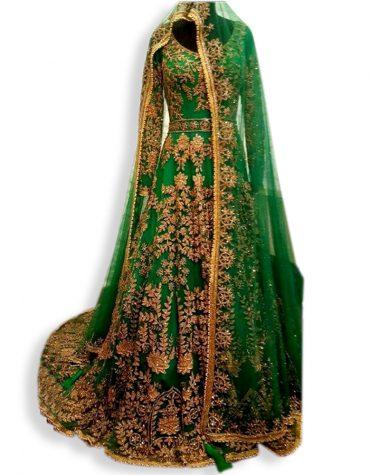 Womens Gold Embroidery Dress Diamond Sparkling Stone Abaya Tulle Dubai Parti kaftan