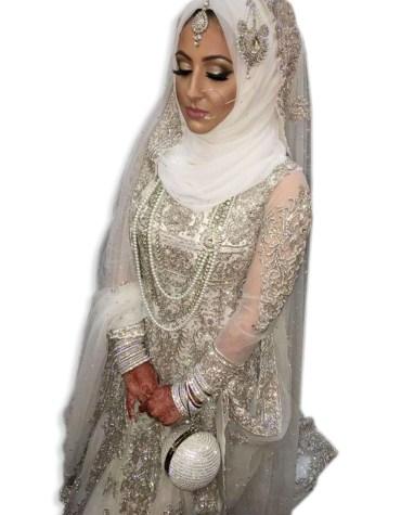 Womens Silver Diamond Sparkling Stone Beaded Abaya Tulle Dubai Party kaftan