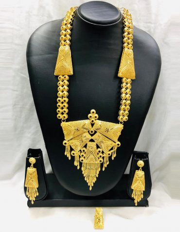African Neck Golden Plated Big Necklace Set