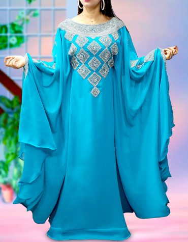 Evening Party wear Plus Size Beaded Moroccan kaftans African Dresses for women