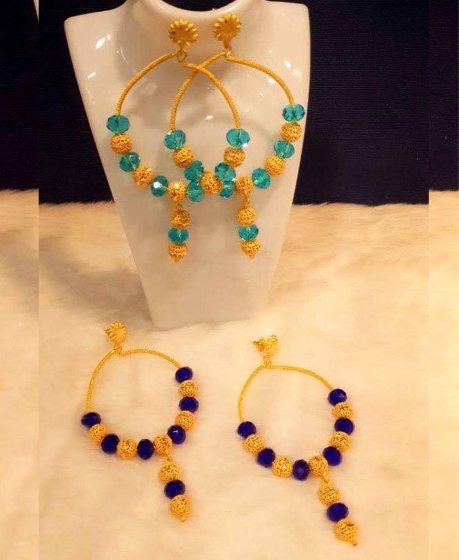 African Fashion Beautiful Gold Earing Jewelry Set for Women