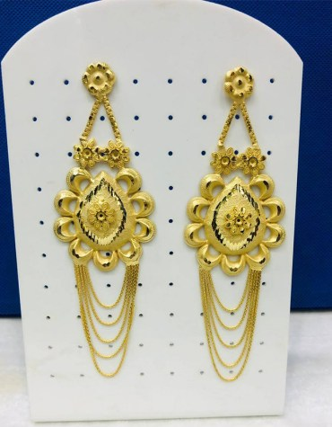 African Fashion Unique Design Gold Earring Jewelry Set for Women